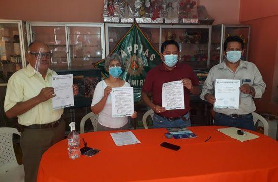 Firma de convenio Cappias - Alcaldía